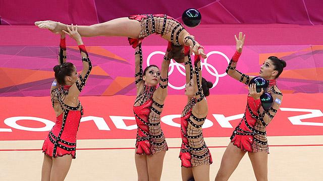Israeli women's gymnastics team from the 2012 Summer Olympics in London (Photo: Oren Aharoni)