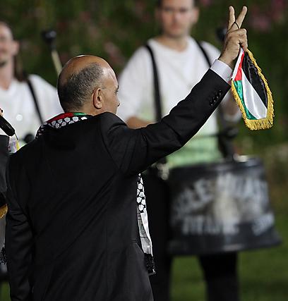 """מבחינתו הוא ניצח. יו""""ר הוועד האולימפי הפלסטיני, ג'יבריל רג'וב (צילום: אורן אהרוני) (צילום: אורן אהרוני)"""