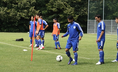 אימון נבחרת ישראל  (צילום: באדיבות ההתאחדות לכדורגל) (צילום: באדיבות ההתאחדות לכדורגל)