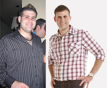 ניסה דיאטות כסאח. גרין לפני הדיאטה (שמאל) ואחריה (צילום: קובי גרין, גילי חן) (צילום: קובי גרין, גילי חן)