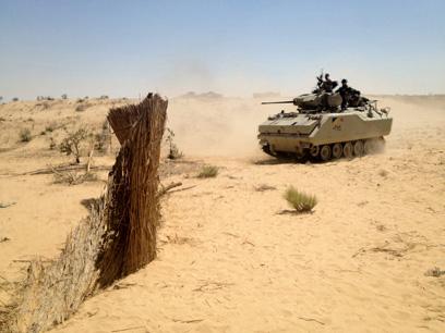 טנק מצרי בסיני, בשבוע שעבר (צילום: MCT) (צילום: MCT)