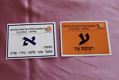 פתקי ההצבעה בבחירות (צילום: ראובן שוורץ) (צילום: ראובן שוורץ)