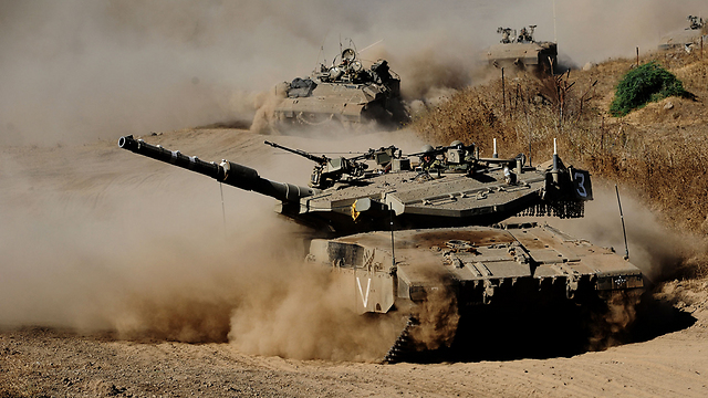 IDF tanks in the Golan Heights (Photo: IDF Spokesperson's Unit)