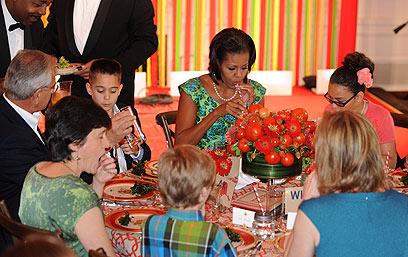 ארוחת הערב לילדים בבית הלבן (צילום: MCT) (צילום: MCT)