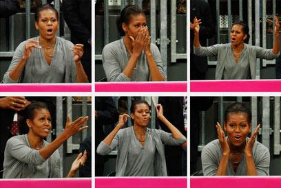 """אובמה במשחק נבחרת הכדורסל של ארה""""ב באולימפיאדת לונדון (צילום: רויטרס) (צילום: רויטרס)"""