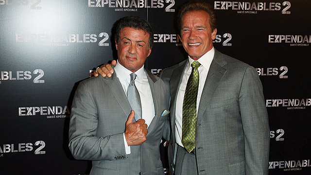 Arnold Schwarzenegger and Silvester Stallone (Photo: MCT)