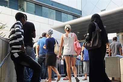 לשכת התעסוקה בבאר שבע, היום  (צילום: הרצל יוסף) (צילום: הרצל יוסף)