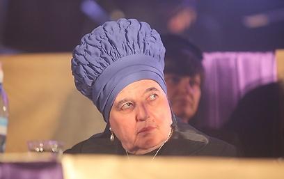 הרבנית מבעלז בהופעה פומבית (צילום: מאיר אלפסי, כיכר השבת)