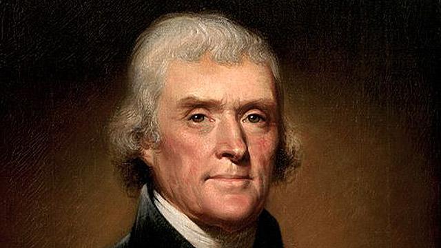 הלך לעולמו ב-4 ביולי 1826 כמה שעות לפני ג'ון אדמס. תומס ג'פרסון (צילום מסך) (צילום מסך)