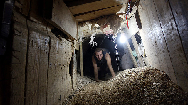 Hamas tunnel in Rafah, Gaza (Photo: EPA)
