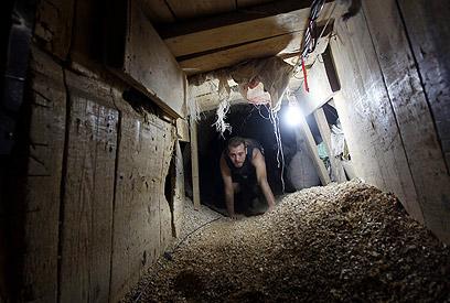 מנהרה ברפיח, צילום ארכיון (צילום: EPA) (צילום: EPA)