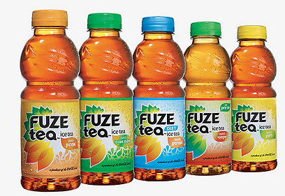 משקאות FUZE. אותו מוצר, לא אותו מותג (צילום: ישראל כהן)