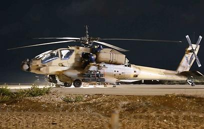 מסוק האפאצ'י במנחת המסוקים בנתניה (צילום: עידו ארז) (צילום: עידו ארז)