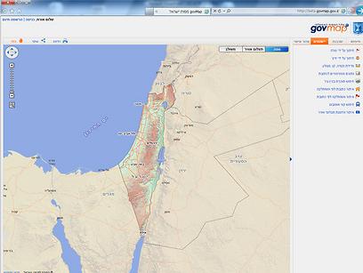 מתוך האתר. מצליב את הנתונים עם גורמי ממשלה נוספים (צילום: באדיבות המרכז למיפוי ישראל)