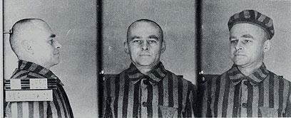 פילצקי כפי שתועד כאסיר באושוויץ (צילום: AP) (צילום: AP)