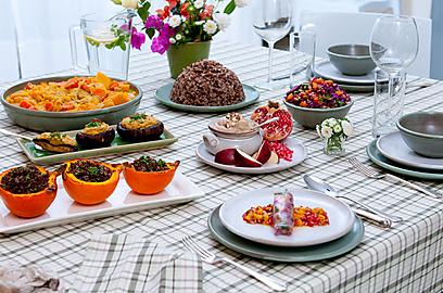 טבעונית ועשירה - ארוחת חג לראש השנ (צילום: ירון ברנר) (צילום: ירון ברנר)