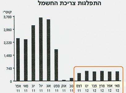 התפלגות ריכת החשמל - לפני ואחרי השיפוץ (צילום: נויה זלצר) (צילום: נויה זלצר)
