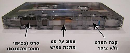 הצד התחתון של הקלטת  (צילום: עידו גנדל)
