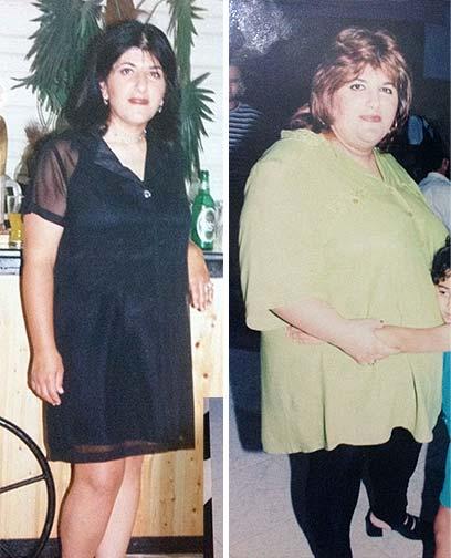 """""""ידעתי שאין לי אופציה אחרת אלא לרזות"""". לוי לפני הדיאטה (ימין) ואחריה ()"""