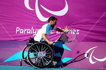 גילה את הטניס אחרי הפציעה. גרשוני בלונדון (צילום: gettyimages) (צילום: gettyimages)