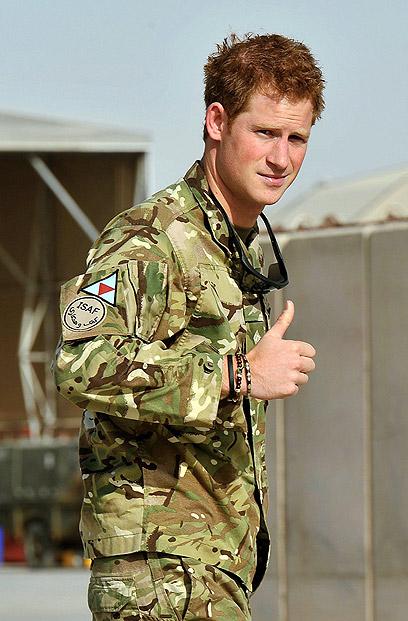 וככה הוא נראה עם בגדים. הנסיך הארי באפגניסטן (צילום: gettyimages) (צילום: gettyimages)