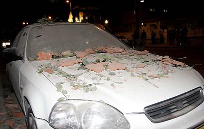 נזקי הפיצוץ (צילום: אליעד לוי) (צילום: אליעד לוי)
