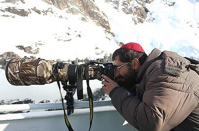 """""""לצלם טבע זה לצלם את הבורא בכבודו ובעצמו"""". באנטרקטיקה (צילום: מאיר אלפסי) (צילום: מאיר אלפסי)"""