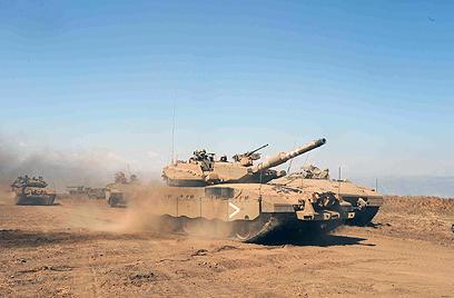 IDF Merkava tank in North; Israel withdrew from Lebanon in 2000 (Photo: Avihu Shapira)