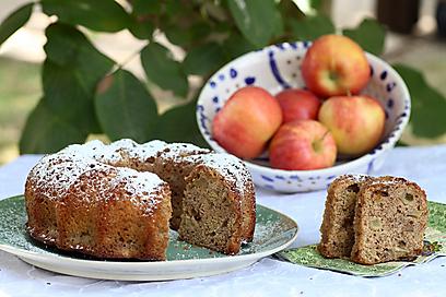 עוגת תפוחים לקפה שאחרי (צילום: אסף רונן ) (צילום: אסף רונן )