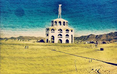 ביום האחרון שורפים את בובת האיש שעל המגדל, וחוזרים לחיים הרגילים (צילום: נמרוד לב) (צילום: נמרוד לב)