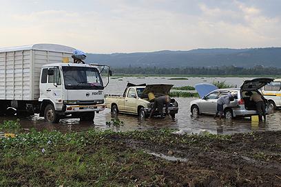 עוד מקור הכנסה מהאגם: שטיפת מכוניות (צילום: ניר (שוקו) כהן, אלי סטרול) (צילום: ניר (שוקו) כהן, אלי סטרול)