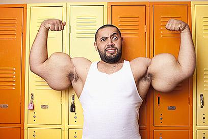 מוסטפה איסמעיל, בעל שרירי הזרוע הגדולים ביותר  (צילום: gettyimages) (צילום: gettyimages)