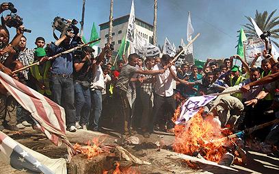 זעם ושנאה גם בעזה (צילום: רויטרס) (צילום: רויטרס)