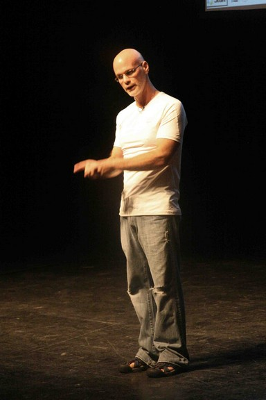 גארי יורופסקי על הבמה (צילום: אורן בן יוסף) (צילום: אורי שביט)