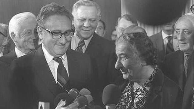 Kissinger and Meir (Photo: GPO)