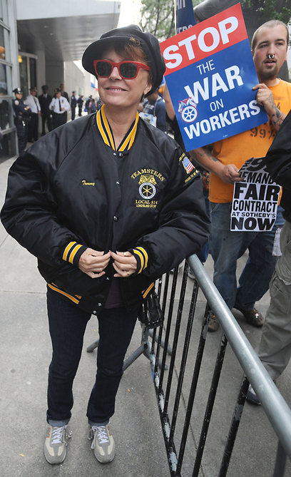 """סוזן סרנדון. אישה חזקה בהפגנת """"Occupy Wall Street"""" (צילום: MCT) (צילום: MCT)"""