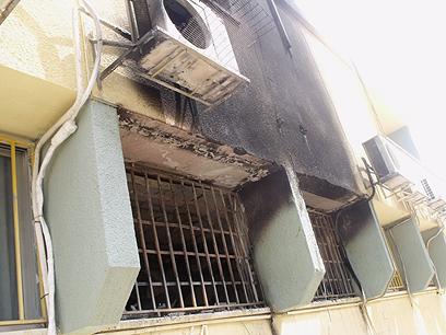 נזקי השריפה בתיכון (צילום: חסן שעלאן) (צילום: חסן שעלאן)
