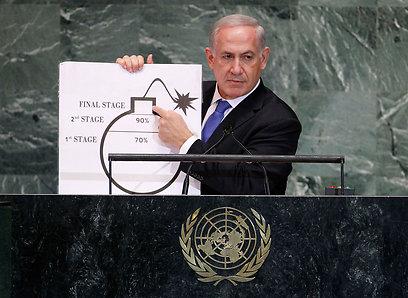 Netanyahu during UNGA address (Photo: Reuters)