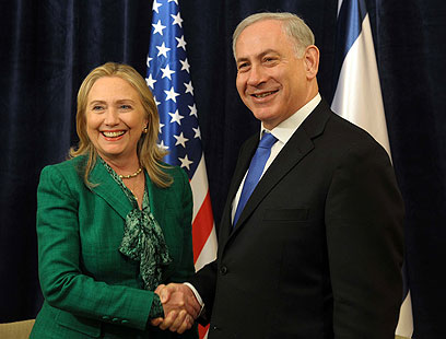 Netanyahu and Clinton (Photo: Avi Ohayon, GPO)