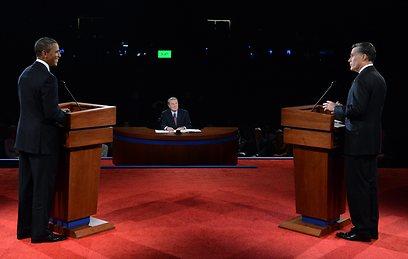 אובמה ורומני מתעמתים. איראן הפכה לנושא במערכת הבחירות (צילום: AP) (צילום: AP)