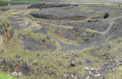 מחצבת אביטל מזרח - לפני השיקום (צילום: באדיבות הקרן לשיקום מחצבות) (צילום: באדיבות הקרן לשיקום מחצבות)