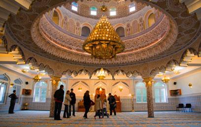 מסגד פתוח לביקור. פרנקפורט (צילום: אנס אבודעבס) (צילום: אנס אבודעבס)