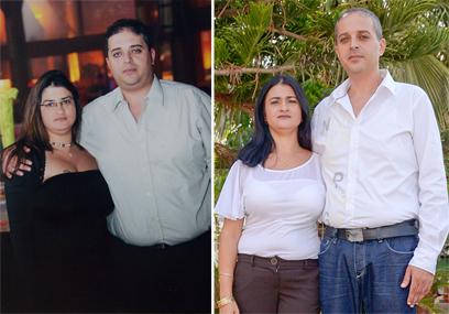 התמודדות משותפת. הזוג צמח לפני הדיאטה (משמאל) ואחריה ()