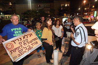 דפני ליף, אמש בתל אביב (צילום: מוטי קמחי) (צילום: מוטי קמחי)