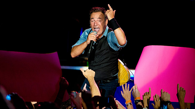 Bruce Springsteen. On his way to Tel Aviv? (Photo: AFP)