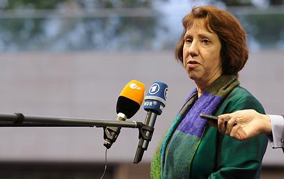 האיחוד האירופי מקשיח הסנקציות על טהרן. אשטון (צילום: AFP)