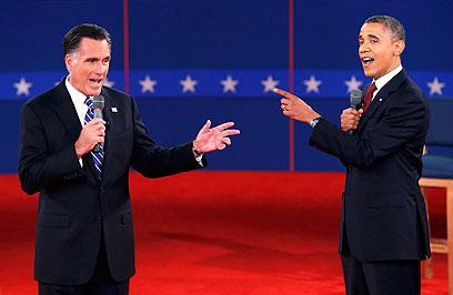 אובמה ורומני מתעמתים. מי יישב מול האיראנים? (צילום: רויטרס) (צילום: רויטרס)