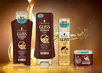מוצרי GLISS- גליס (צילום:  HIPAC) (צילום:  HIPAC)