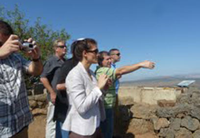 US counter-terror experts in Golan Heights (Photo: Project Interchange)