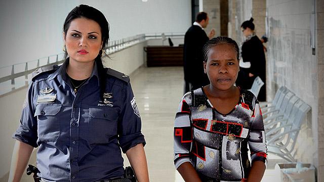 Jisma in court (Photo: Avi Moalem)